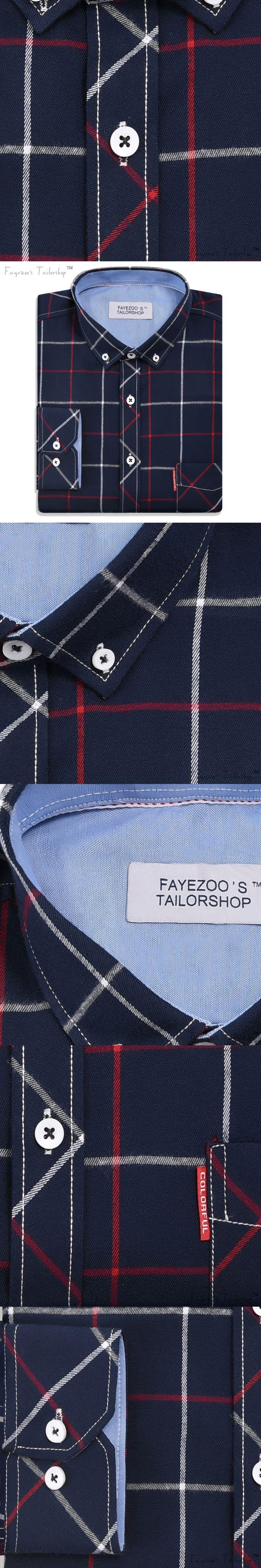 Cotton Flannel Plaid Korean Designer Slim Fit Long Sleeve Casual Shirt for Men - Evil