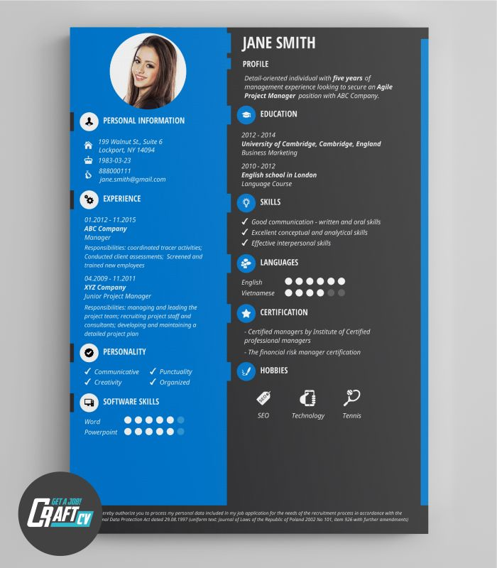 Creative CV Example | Original CV Design | Resume Template