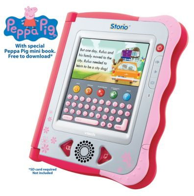 Vtech Storio Interactive E-Reading System - Pink The Storio Interactive E-Reading System features Watch the Story and Reading Games modes that help children interact with the story.Press the Story Dictionary button or press on difficult words to fin http://www.comparestoreprices.co.uk/childs-toys/vtech-storio-interactive-e-reading-system--pink.asp