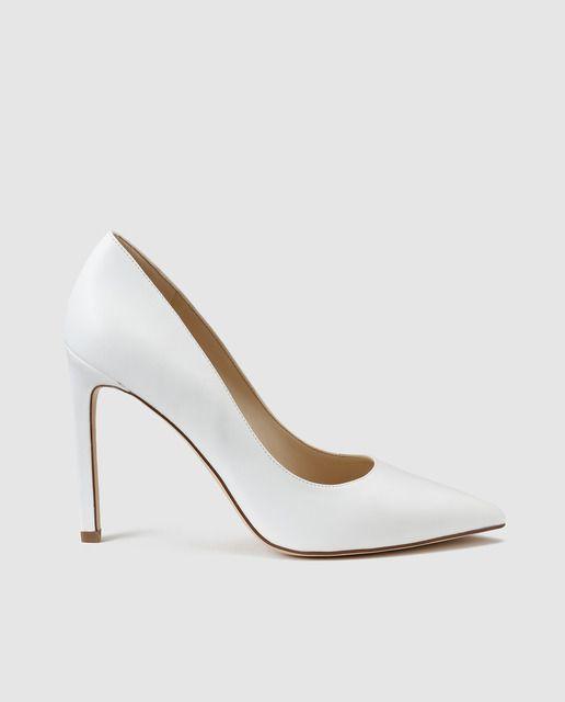 Zapatos de salón de mujer Nine West  en piel de color blanco