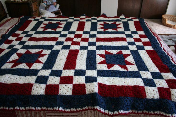 Book Cover Crochet Quilt Pattern : Crochet patchwork quilt patterns style