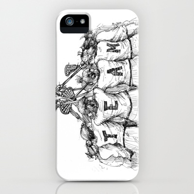 """""""TEAM"""" (The Art of Lax™) iPhone Case by Vincent Ricasio - $35.00"""