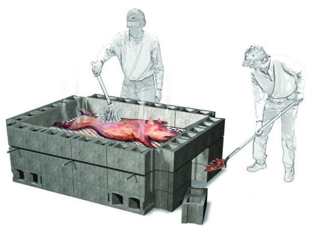 how to make a pig roaster
