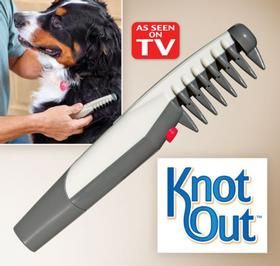 KNOT OUTTM Pet GROOMING COMB Instantly Removes Knots And Tangles Without Tugging Struggling Or Stress Browse Our Other Dogs Cats Products To Compliment
