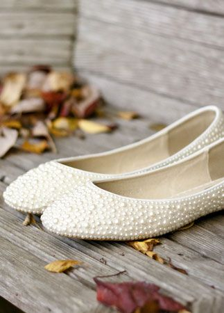 Pearl Beaded Bridal Shoes | J.C. Winter | blog.theknot.com