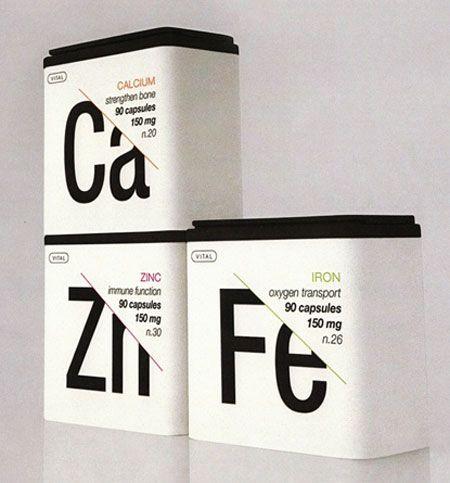 Vitaminas embalaje. Via recurso de diseño canadiense