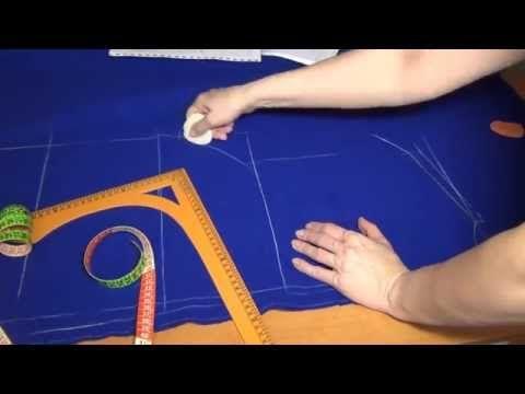 Как кроить пальто без выкройки - YouTube