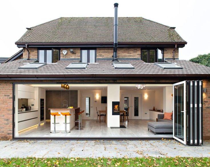 Serre met vouwdeuren. Design keuken Zeyko Horizon