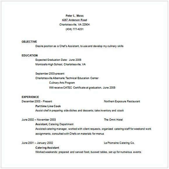 The 25+ best Sample resume templates ideas on Pinterest Sample - resume for restaurant waitress