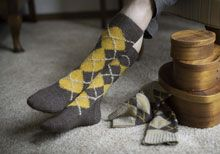 While supplies last in the Interweave store: snag an Outlander Argyle Sock Kit featuring our Outlandish colorways of Lhasa Wilderness Yarn! Each kit makes TWO pairs of classic Argyle socks and also includes a sample of Allure Fine Fiber & Fabric Wash! Click through to purchase yours today.