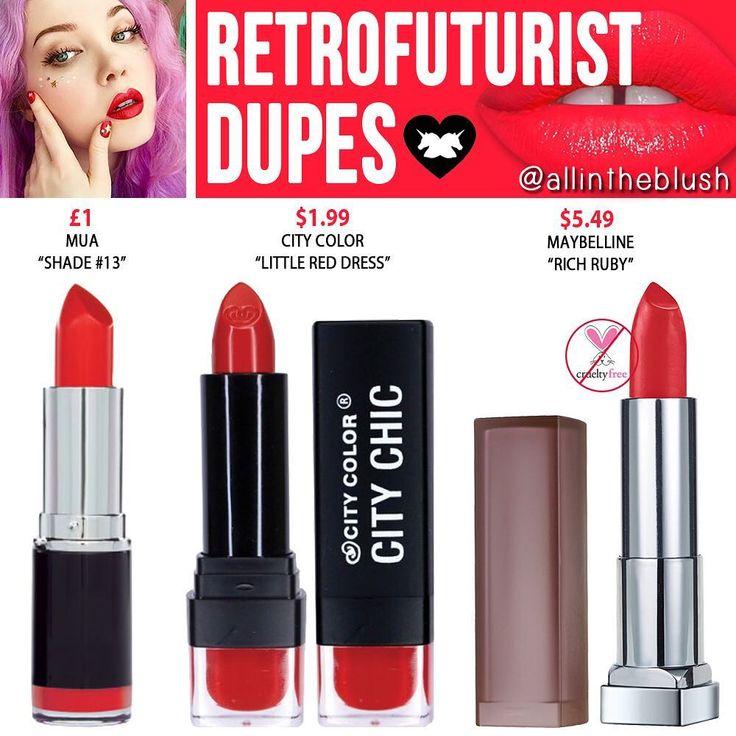 (@allintheblush) on Instagram: RETROFUTURIST DUPES from Lime Crime Unicorn Lipsticks