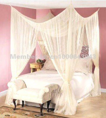 Make Bed Canopy Using Curtain Rods