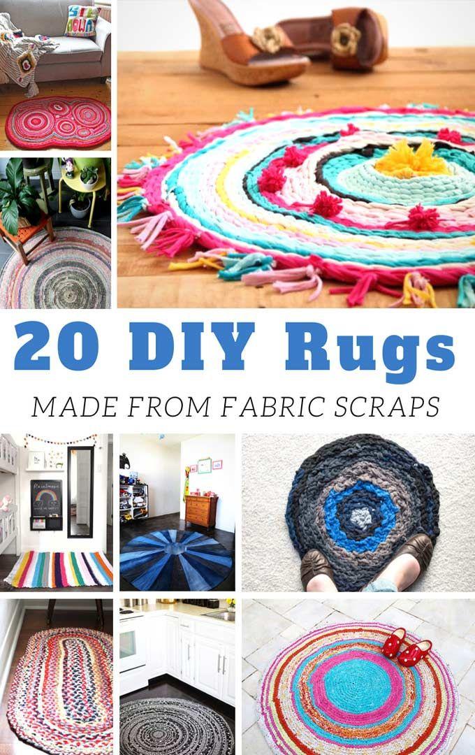 20 Diy Rugs Made From Fabric Scraps Diy Rug Diy Rugs Fabric Braided Rug Diy