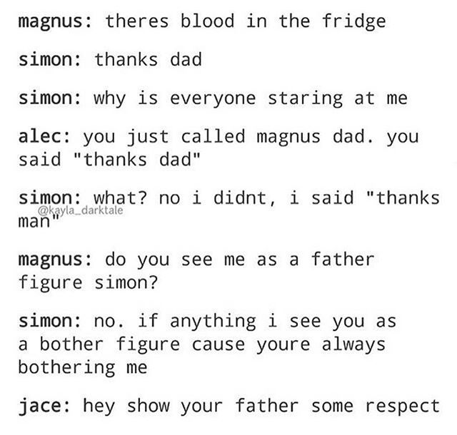 I can see this happening  honestly Simon would even try to cover it up like that too  Credit to @kayla_darktale