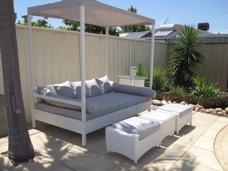 White Kuta Day Bed with Canopy. Only for Perth! We are located in Wangara WA.