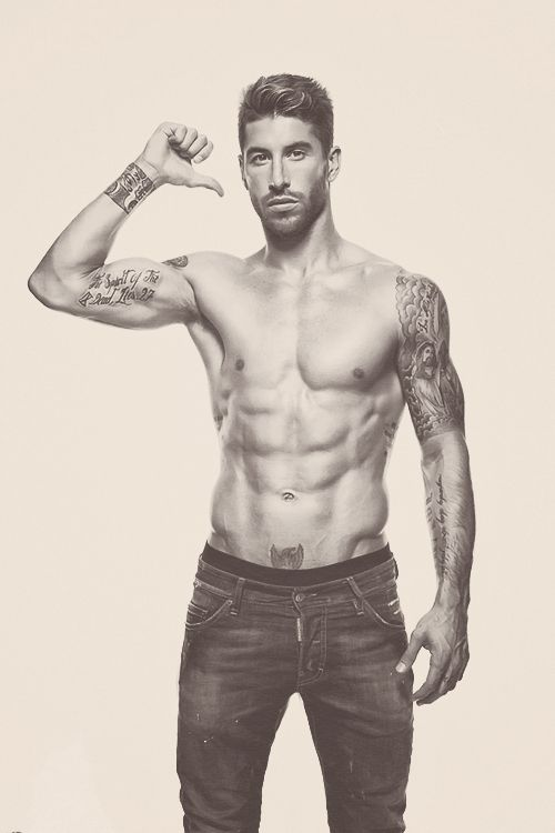 Sergio Ramos. soccer. bad ass. tattoos AHH. Please, please, please, please, PLEASE CAN I MEET YOU WHILE I'M IN MADRID????