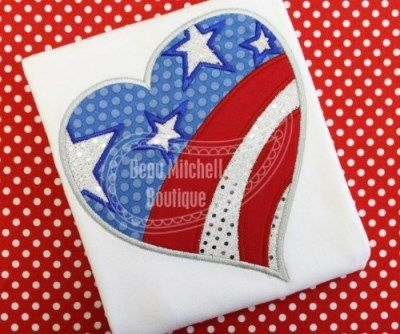 4th of July Heart | Beau Mitchell Boutique