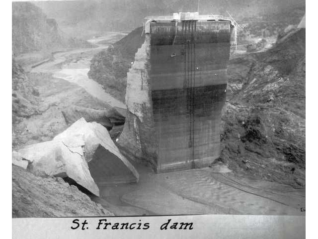 Santa Paula, CA - St. Francis Dam after the catastrophic mistake