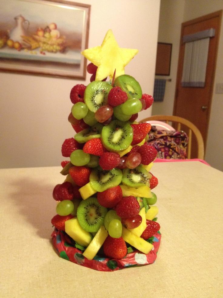 edible fruit Christmas Tree :)