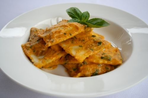 The Perfect Winter Warmer Pasta Recipe - Angelo's Fresh Pasta Products | Pumpkin Filled Ravioli with Roast Pumpkin, Almond and Basil Sauce