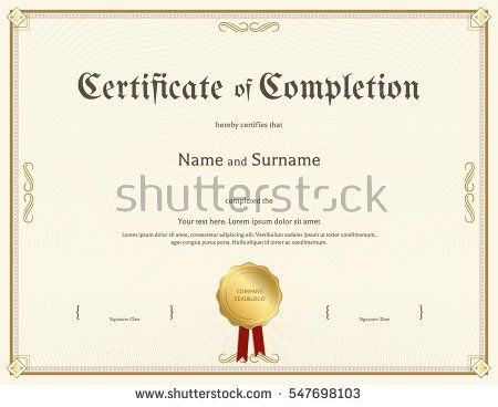 125 best Certificate template images on Pinterest Certificate - sample certificate of completion