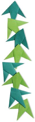 Origami Bamboo grass Ornament