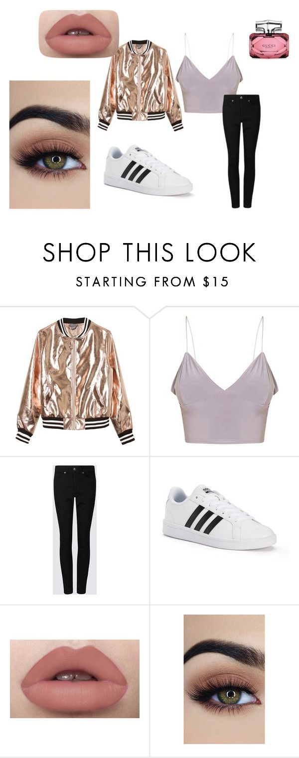 """""""Basic not basic"""" by heddastoltnielsen on Polyvore featuring Sans Souci, adidas and Gucci"""