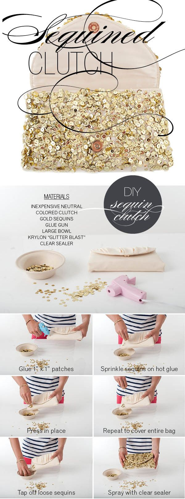 A little bit of sparkle. http://www.stylemepretty.com/2012/06/29/wrap-it-up-pretty-a-sequined-diy-winners/