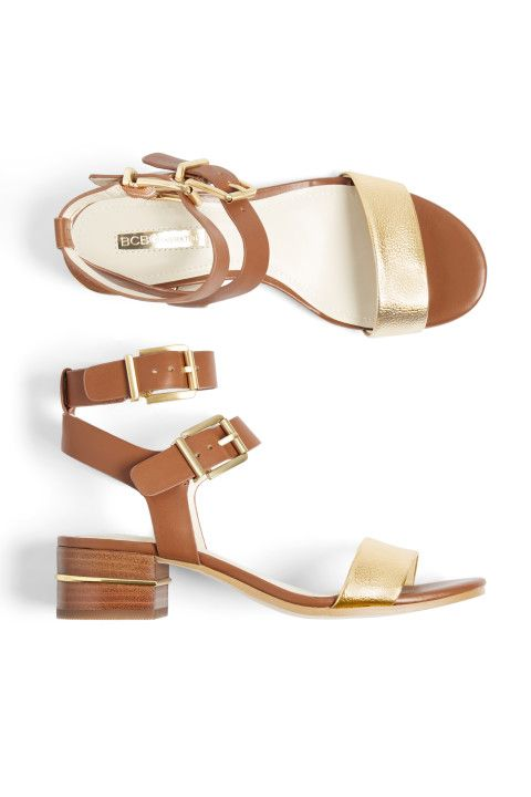These could be cute- I like the heel height, color and gladiator style- I'd have to try them on to be sure- Stitch Fix Spring Shoes: Metallic Sandals