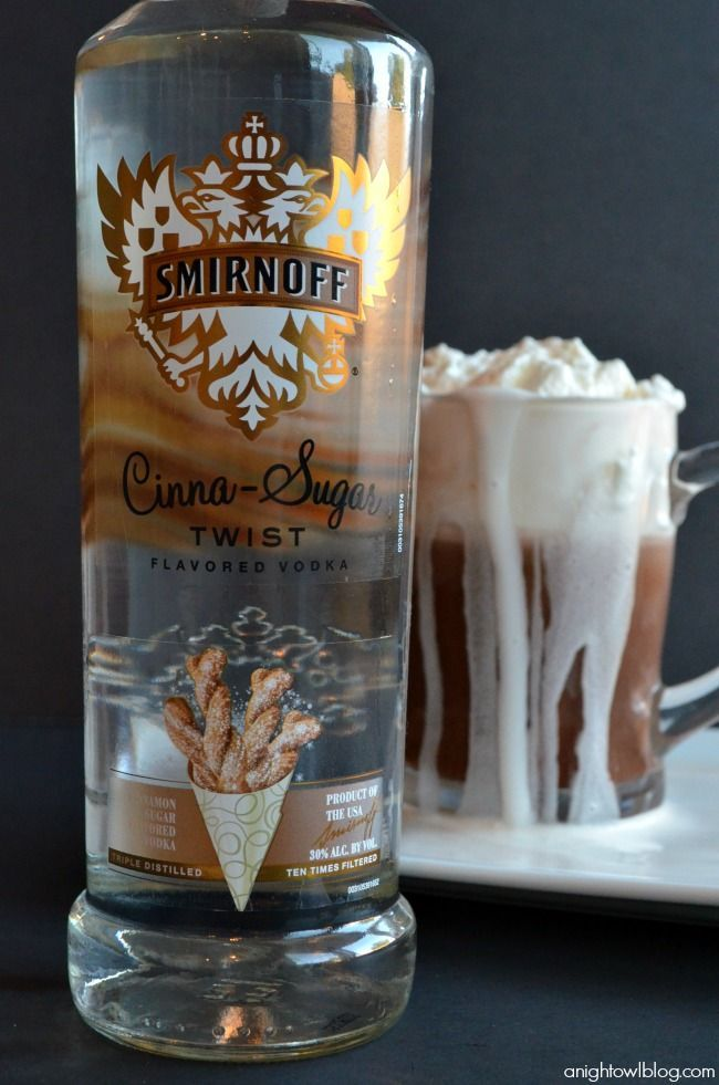 A delicious night-cap made with your favorite hot chocolate and Smirnoff Cinna-Sugar Vodka Whipped Cream!  OHHHHHHHHHHH