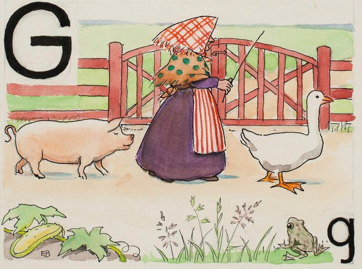 Elsa Beskow - Swedish Alphabet
