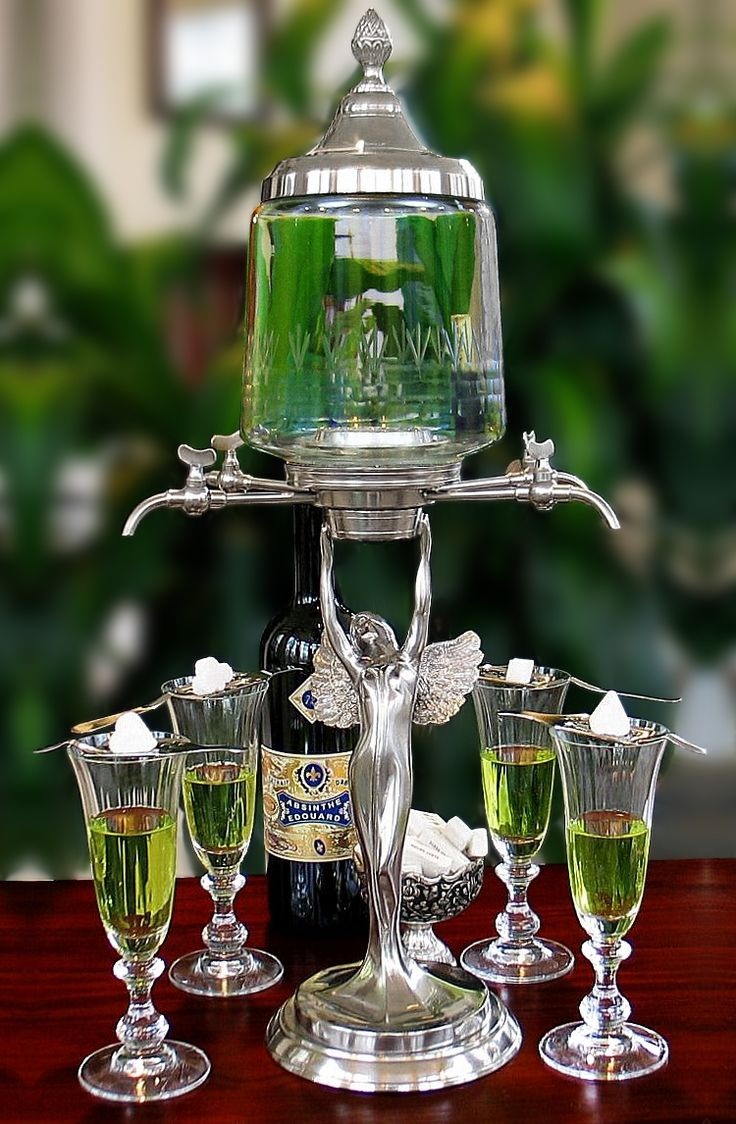 Lady Wings 4 & 6 Spout Absinthe Fountains & Sets