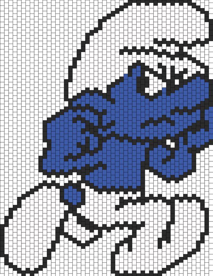 Grouchy Smurf bead pattern
