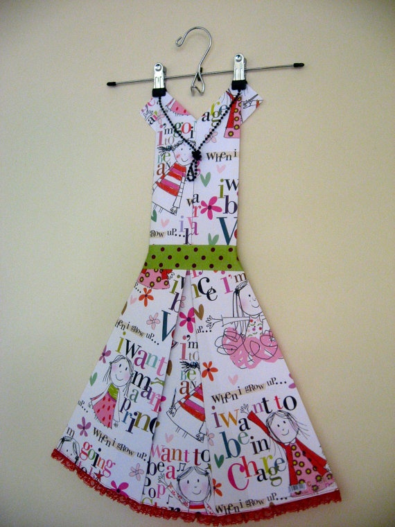Folded Paper Dress  When I Grow Up by FolduliciousFrocks on Etsy, $45.00