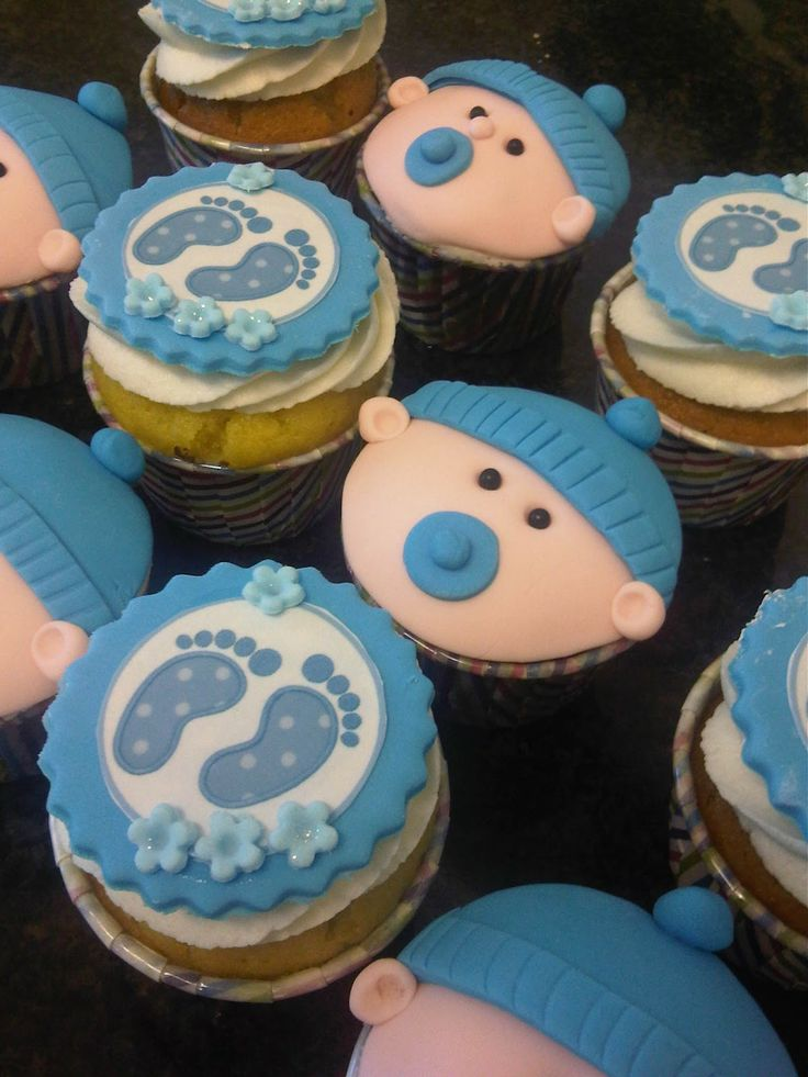 Images Of Boy Baby Shower Cupcakes ~ St birthday cupcakes boy baby shower