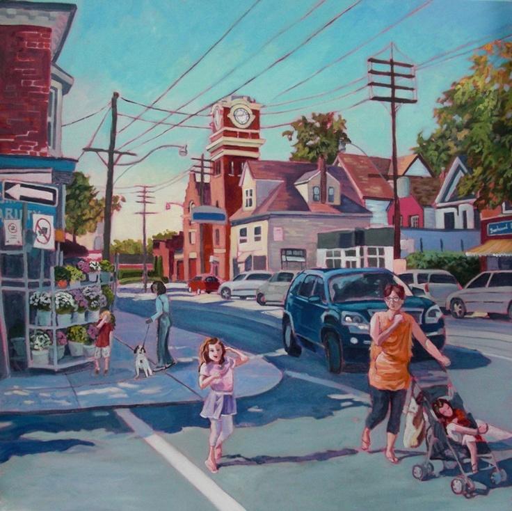 """""""Sweet September"""", Queen St E, Toronto.  30x30"""" Acrylic"""