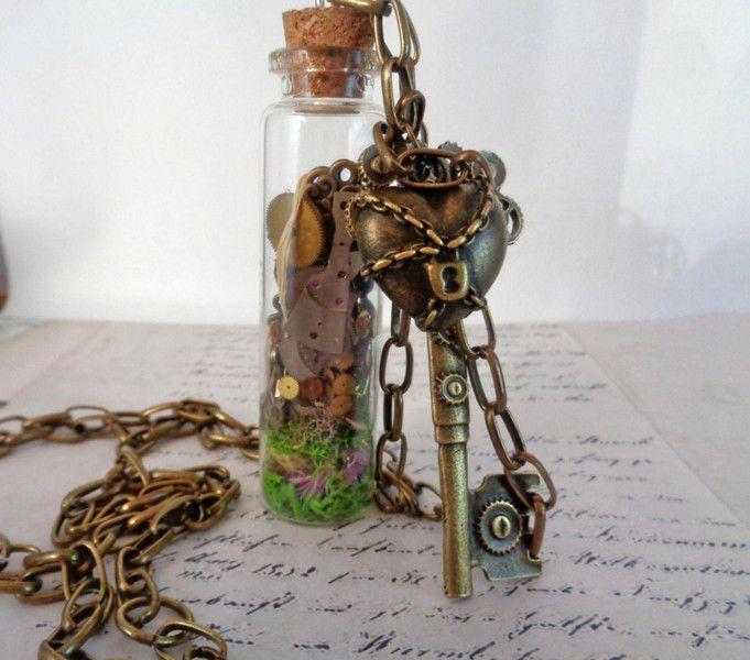 """Steampunk-Schmuck - Steampunk Kette """"XXL Bottle"""" - ein Designerstück von Karins-Herzstueke bei DaWanda"""