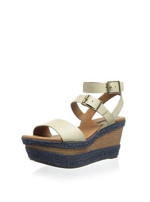 55% OFF Calvin Klein Jeans Women's Cailey Platform Sandal (Light Taupe/Grey)