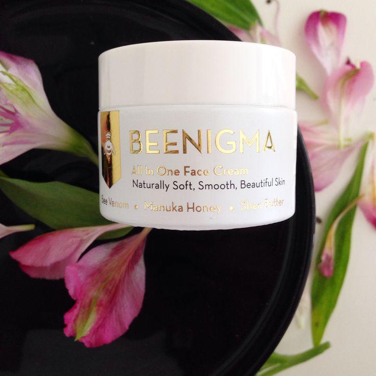 Beenigma All In One Nourishment Face Cream. Naturally boost collagen and elastin to lift, plump and tighten your skin. #NaturalLook #FaceCream #BeeVenon
