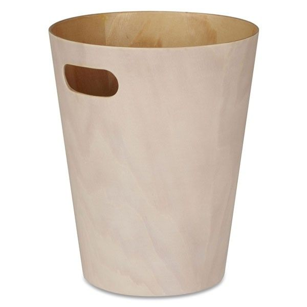 Umbra+Woodrow+Waste+Bin+-+White+-+The+Umbra+Woodrow+Waste+Bin+is+a+contemporary+design+that+never+fails+to+be+appealing+in+any+room+of+the+house.+This+white+wash+natural+wood+trash+can+has+a+subtle+presence+with+a+minimalist+design,+making+a+happy+addition+to+both+a+modern+and+traditional+interior…