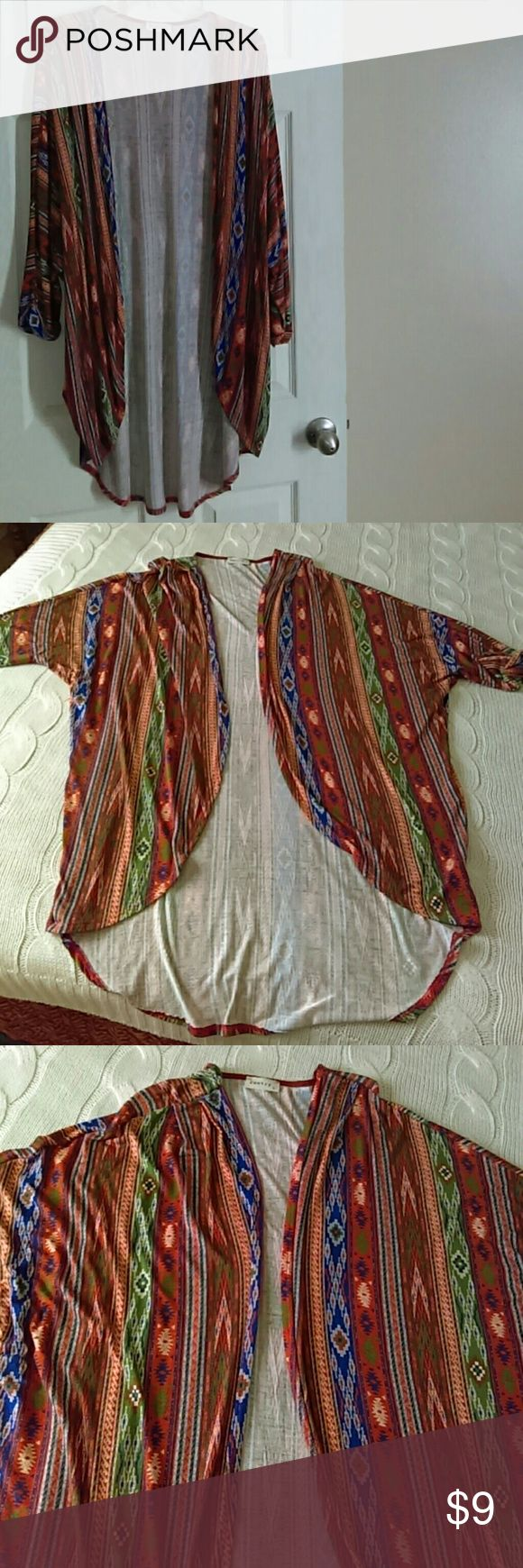 Poetry Aztec/Tribal Cardigan Tunic Poetry Aztec/Tribal Tunic. Very Large. Feels like XL. Poetry Tops Tunics