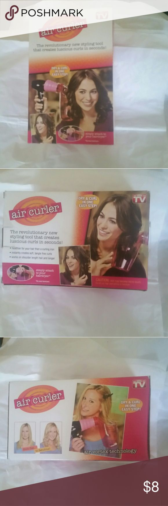 Air curler Air curler as seen on TV  I have had this in my closet for a while now brand new never used ( I have natural curly hair ) don't know why I have it Other