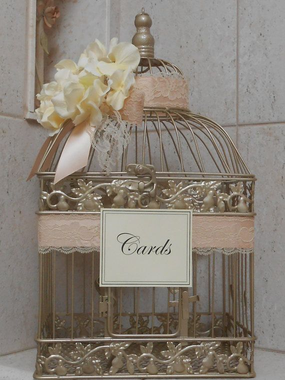Hey, I found this really awesome Etsy listing at https://www.etsy.com/listing/174129459/wedding-birdcage-cardholder-champagne