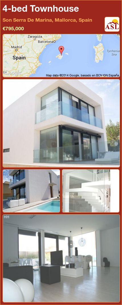 4-bed Townhouse in Son Serra De Marina, Mallorca, Spain ►€795,000 #PropertyForSaleInSpain