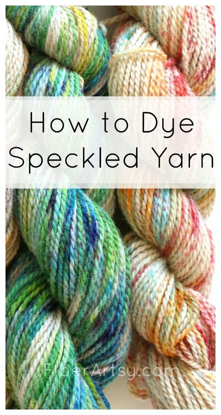 How to Speckle Dye Yarn - a FiberArtsy.com tutorial