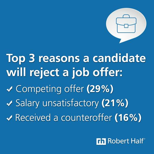 What would influence you to accept or reject a #job offer?
