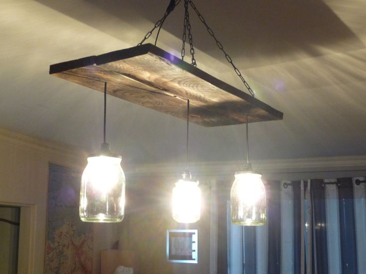 102 best luminaire images on pinterest light fixtures for Luminaire homemade