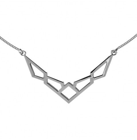 Short necklace with geometric shape on a chain from the AGATHA Paris Cosmic Girl fashion jewellery collection