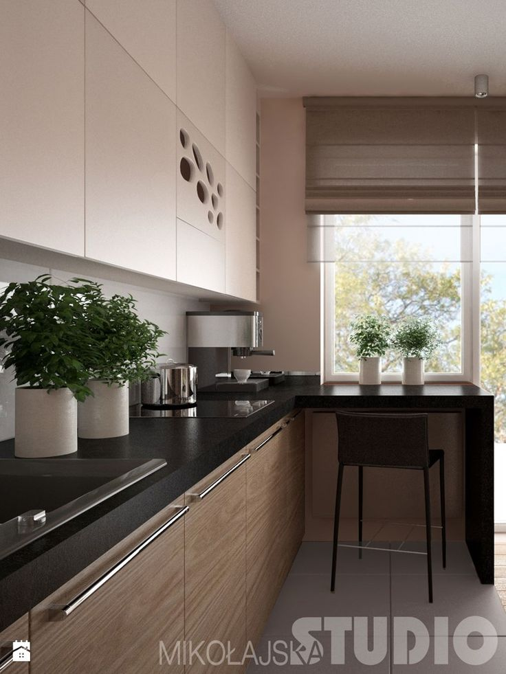 Bardzo mała kuchnia  zdjęcie od MIKOŁAJSKAstudio   -> Kuchnia Nowoczesna Inspiracje