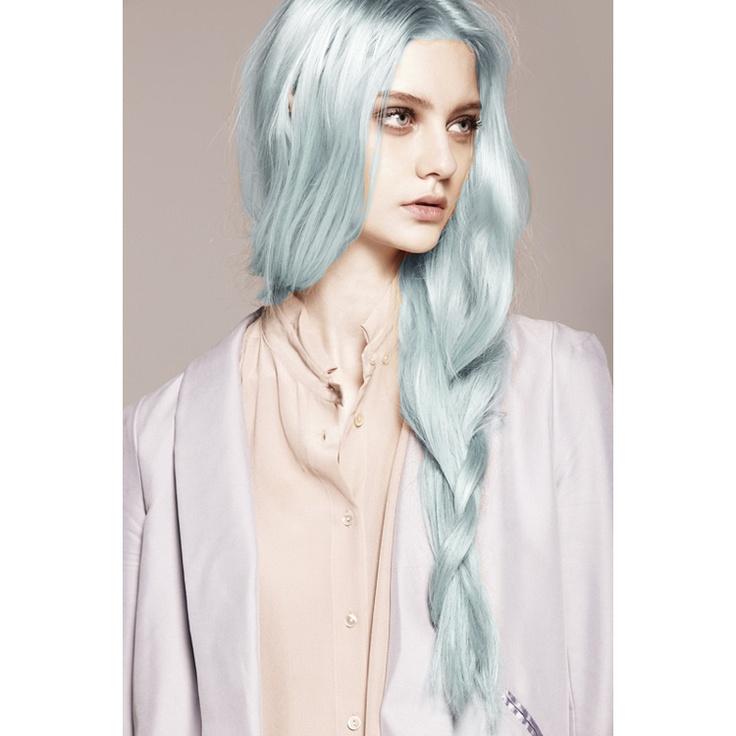 light blue pastel hair